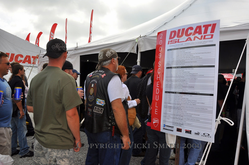 Lets head over to the island entrance, the Ducati Museum