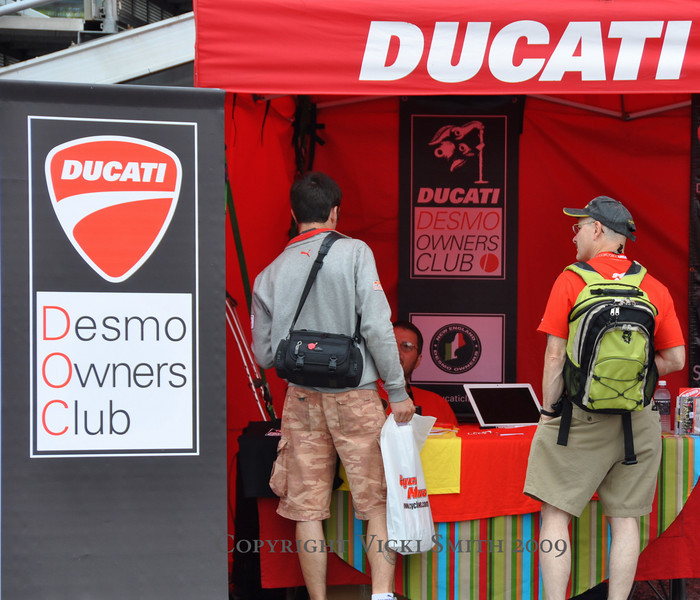 Ducati Island's engine is the Ducati Owners Clubs and Team Ducatisti volunteers.  At Indy 11 owners clubs shared space