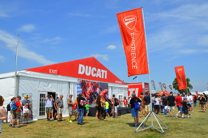 The Ducati store, now that it's out of turn one, was free to grow and this year it's HUGE