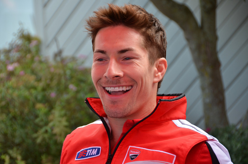 Nicky Hayden.  Indy is three hours from his house so this is his home GP and sadly for his fans in red, his last as the Ducati factory team rider.