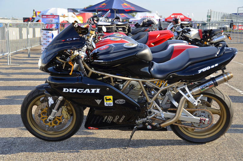 Lots of rarely seen bikes here, like this one. I'd say the ratio of cool and interesting  Ducati sightings was even higher than Laguna.