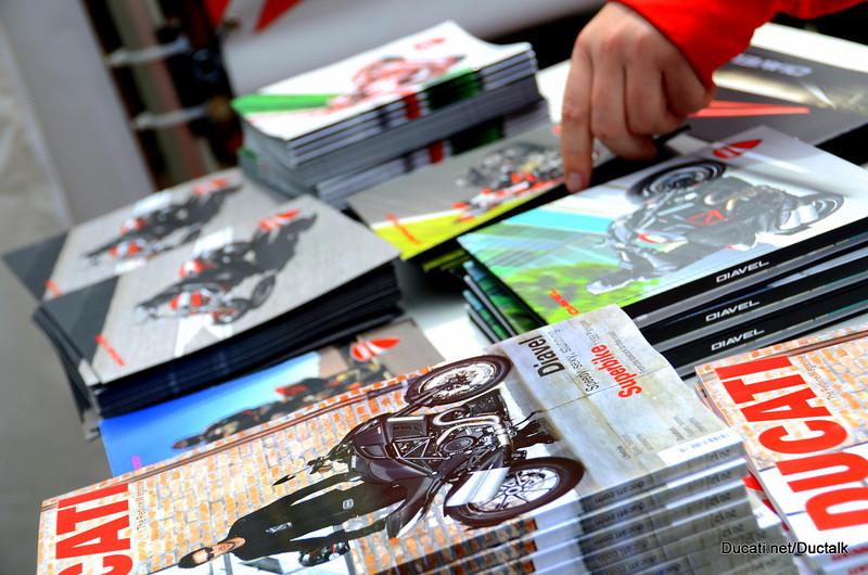Ducati Brochures, magazines and books.  How much? Yep. Free