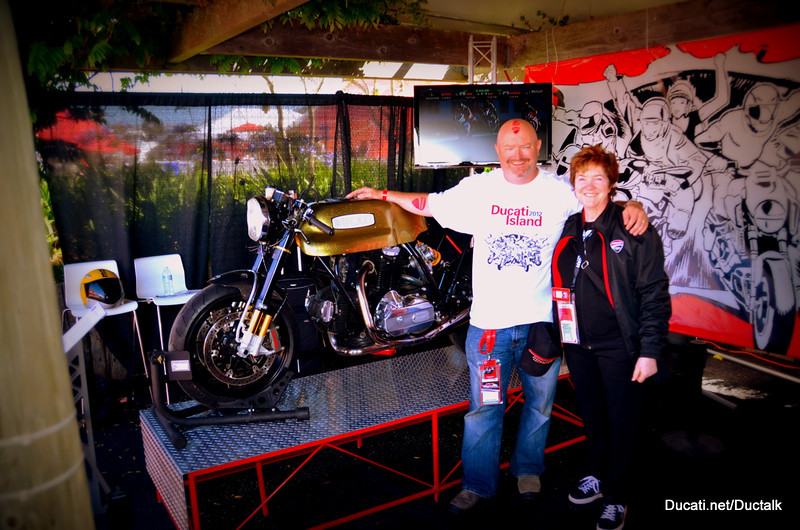 That's me (Vicki) and Harlyn Jenkins (we're the wizards behind the Ducati.net curtain)