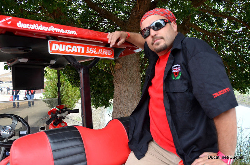 Ducati Dave and his maxed out Ducati Golf Car