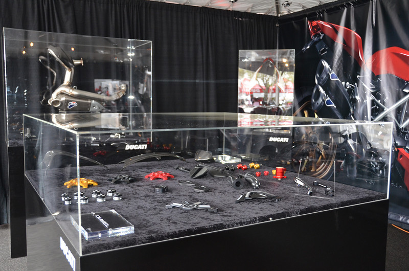 Ducati Performance Display. Like a Jewelery Store for your bike