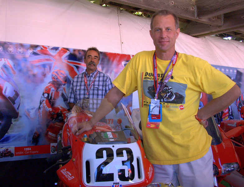 Doug Polen stops by the Concorso to show Tom Tasso who REALLY owned this bike!