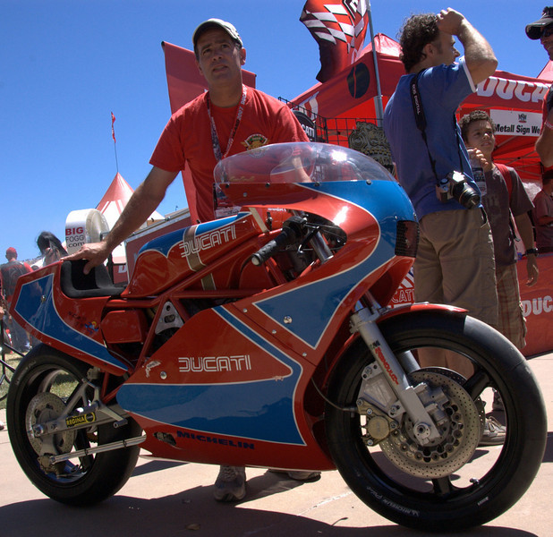 Brian Larrabure's rare and special TT1, one of two factory works racers in the world. It won Best Original
