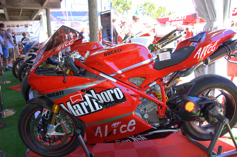 This 1098 was built for the contest by it's owner. It was literally being finished at the track