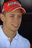 But what everybody really wanted to see was these guys. That's Casey Stoner, the Ducati GP pilot