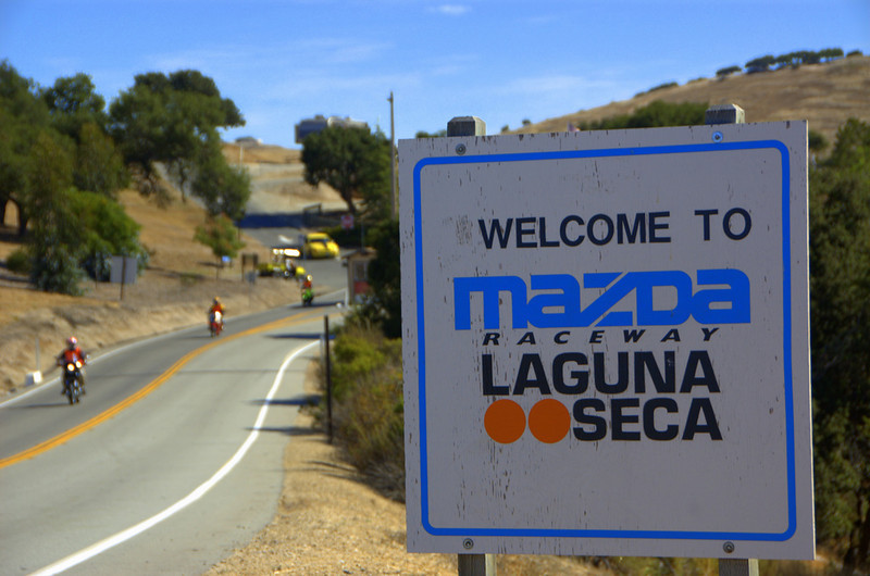 Legendary Laguna Seca Raceway. Home of the only North American round on the MotoGP circuit. At the center of it is Ducati Island.