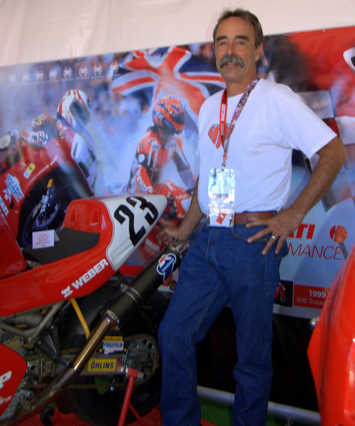"""Tom Tasso had this Doug Polen race bike in the Superbike Concorso. It took home the """"Best Moodified"""" prize"""