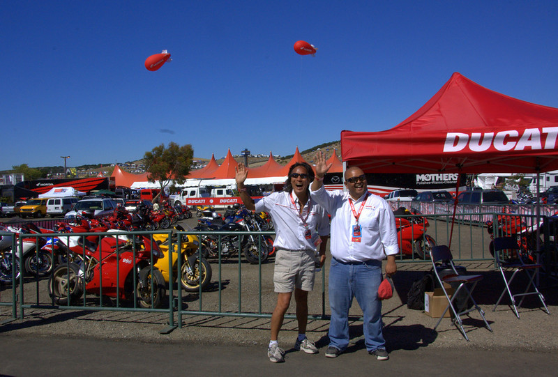 Ducati North America offers off site parking for when the Island Parking fills up so nobody misses the action.
