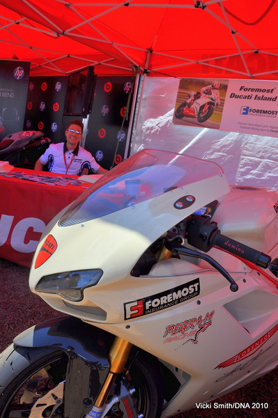 Of course Brett from Foremost Insurance was there, he's a Ducati Island regular