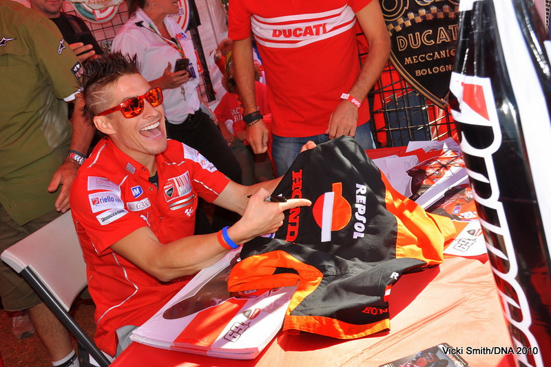 This is what happens when you ask Nicky to sign Honda items.  He thought it was pretty funny