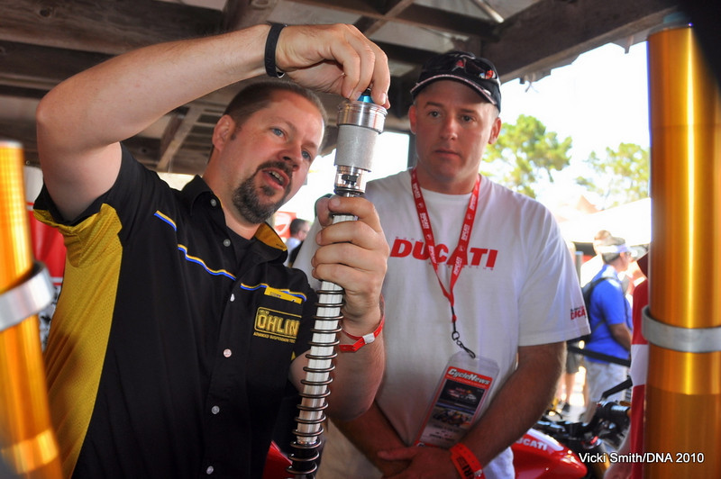Ohlins was on the island with a knowledgable staff answering questions and giving tech sessions all weekend.