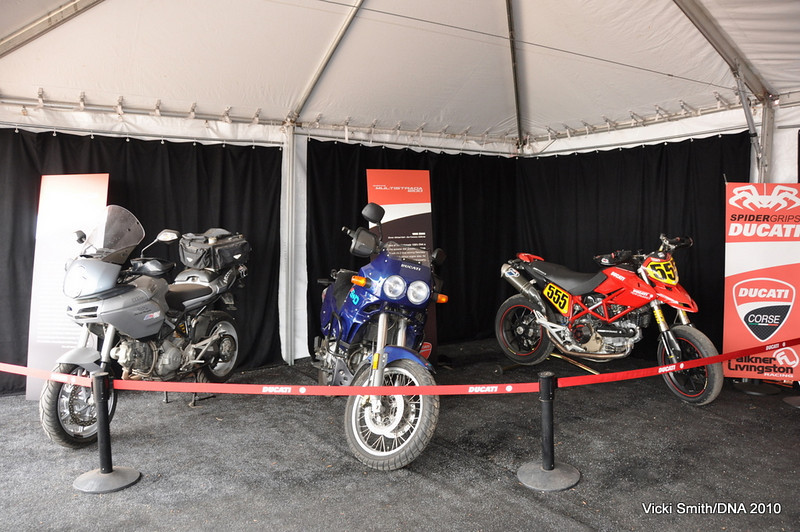 As was the Pikes Peak winning Hypermotard, Gary Eagan's record setting Multistrada and an e900 modeled after the 2 time Paris - Dakar winners