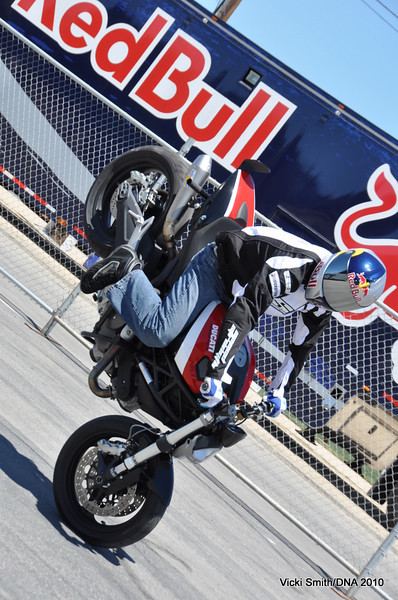 Aaron Coulton, Red Bull athlete and Ducati 696 rider. He's 17.