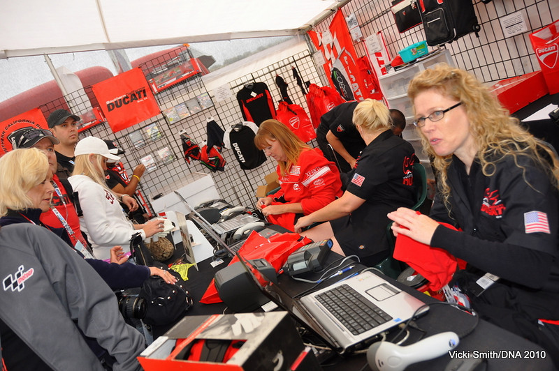 The Ducati apparel store was busy all weekend with a huge selection of Ducati's full line