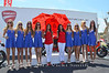 The Red Bull ladies stopped by to visit the Ducati ladies. Almost no one noticed :-)