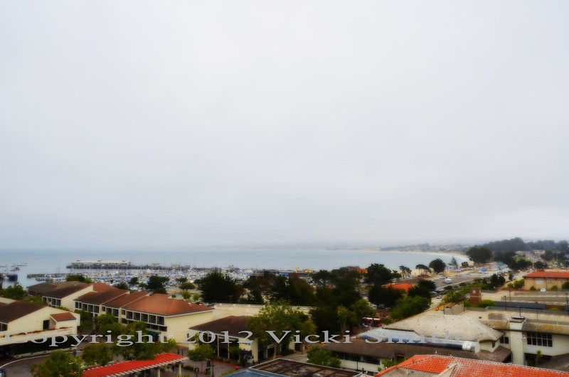 That's the hotel view of the lovely town that hosts us, Friday and Saturday night, Cannery Row is the only place to be