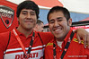 Yao Wang (on right with his brother Wei) is one of the dedicated staff that make Ducati Island happen