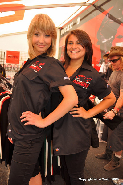 It's probably a good idea to start by checking out the Southern California Ducati clothing booth.  Staffed with knowledgeable folks, it's a danger to your wallet but what a feast - if Ducati makes it they probably have it in multiples. (I bought a new Puma team jacket!)