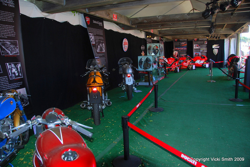 A genuine mini-museum full of rarely seen bikes and Ducati items, it was organized just for the event