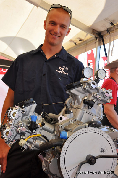 Next is the Wyotech Garage for a technical exibition (they are dismantling and rebuilding a Ducati 696) Show Offs! :-)