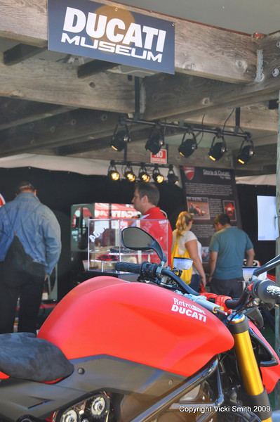 Once the fashion show is over we head over to check out the Ducati museum