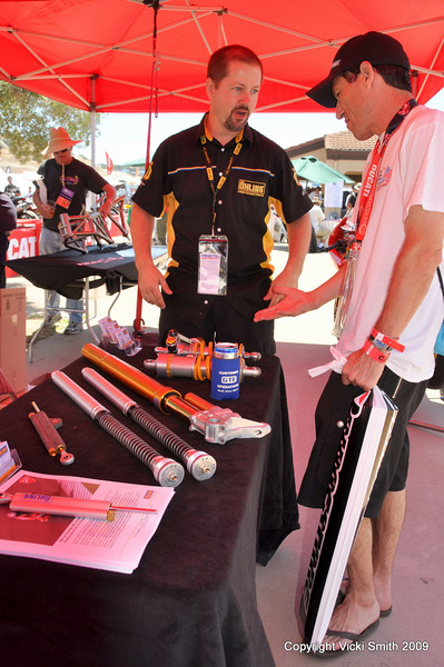 Also new this year, Ohlins was on hand to answer questions