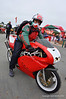 This is the best place all year to see every sort of Ducati from fresh off the showroom floor to bikes like this well done and interesting application of beautiful Supermono bodywork to an early 90's SuperSport. Nice!