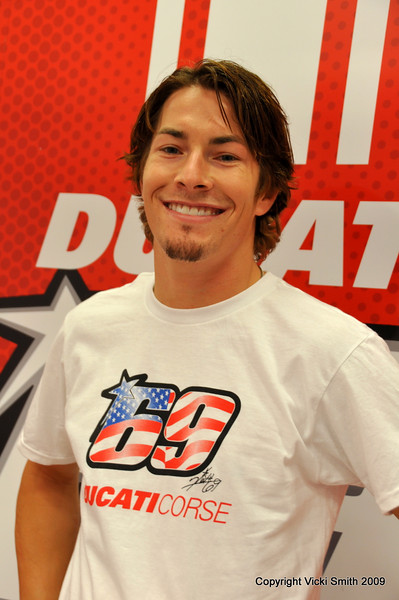 But this is Laguna Seca so it's all about This guy. Our Hero. Nicky Hayden