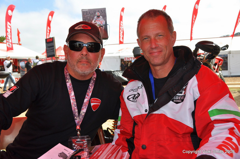 Doug Polen was hanging out in the Ducati Owners Club area - that's NORCAL DOC President John Clelland who tells me Doug is one of his hardest working members