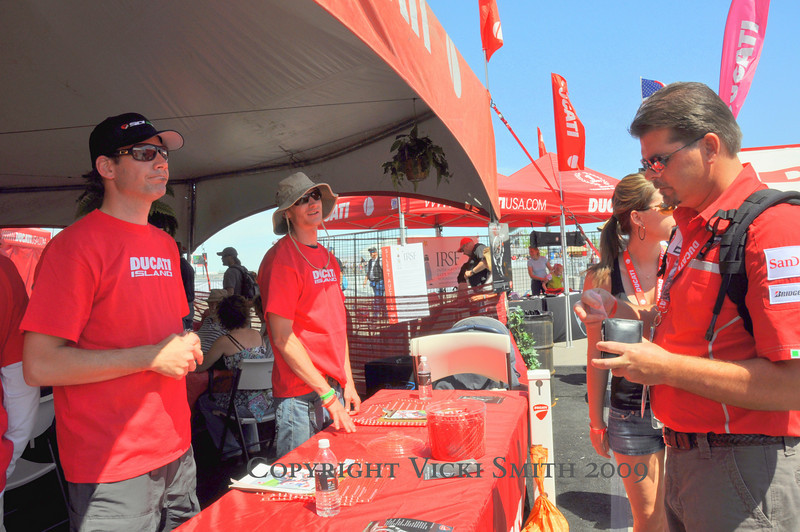 Saturday am Team Ducatisti was at their posts in parking and hospitality, smoothing the way