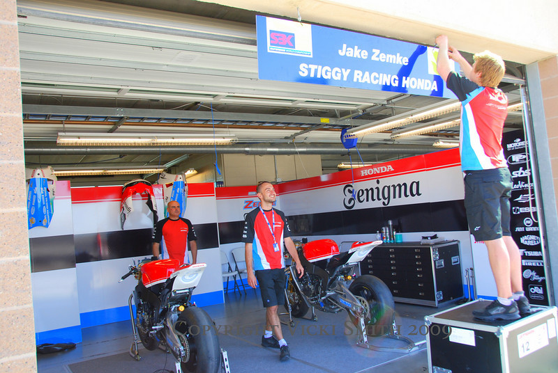 And this - AMA star Jake Zemke getting his own garage in the SBK lineup