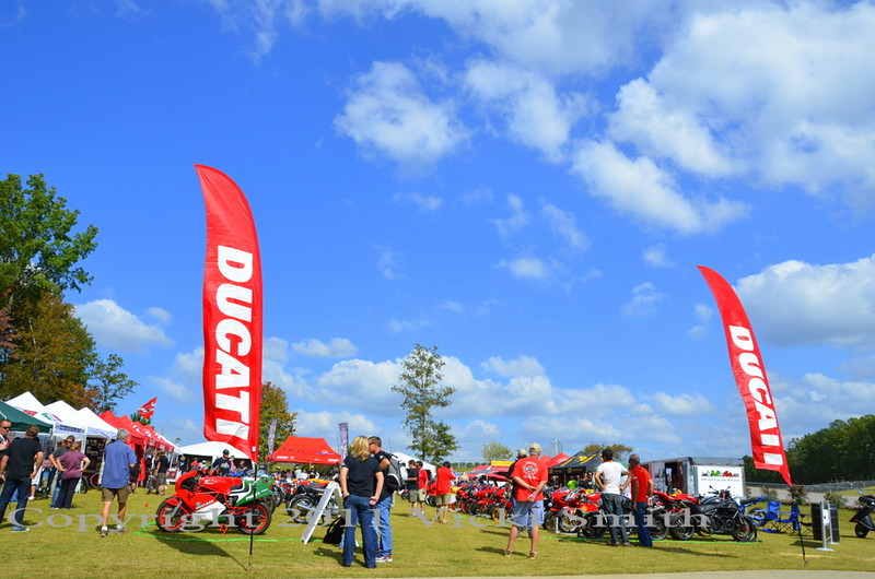 The bike show was a National Specialty show so the Ducati's that came out were the depth and width of what the marque had to offer