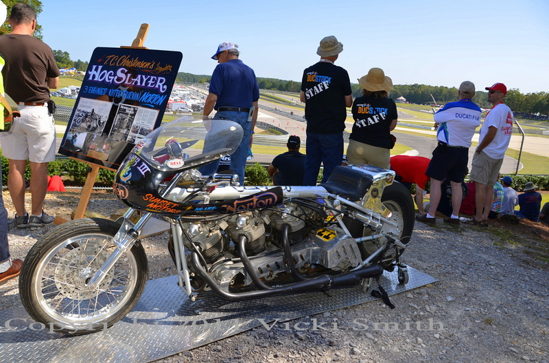 """But there was plenty to check out here besides the view, like the historic """"Hog Slayer triple engine dragster"""