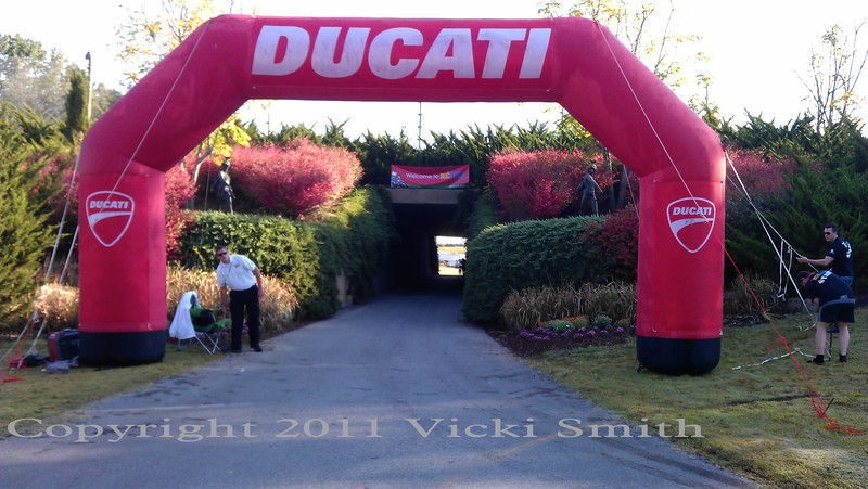 Lets not forget the Ducati arch - number one most important part of any world class Ducati event!