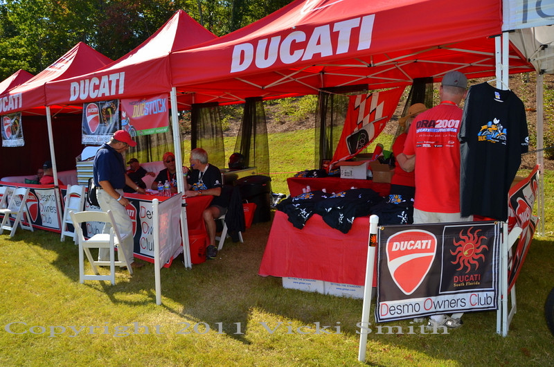 Ducati.net booth was Ducstock central - pick up your gift kit, Team Ducatisti volunteer check in, grab a water, even catch a nap in the lounge.