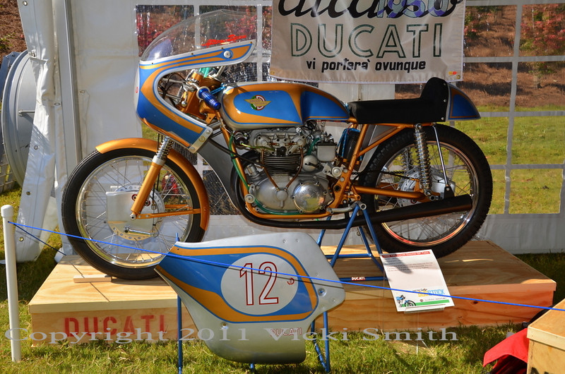 The second tent was various Ducati's, all exceptionally special. Some, like this 125 GP twin built for Mike Hailwood to race, were as rare and special as Ducati's get