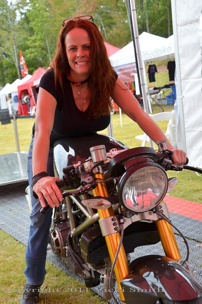 That's Leanne from Eurocycles who worked really hard to make Ducstock a success.  Thanks Leanne!