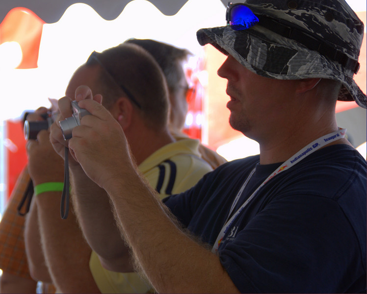 These guys were in the tent checking out the bikes, right?