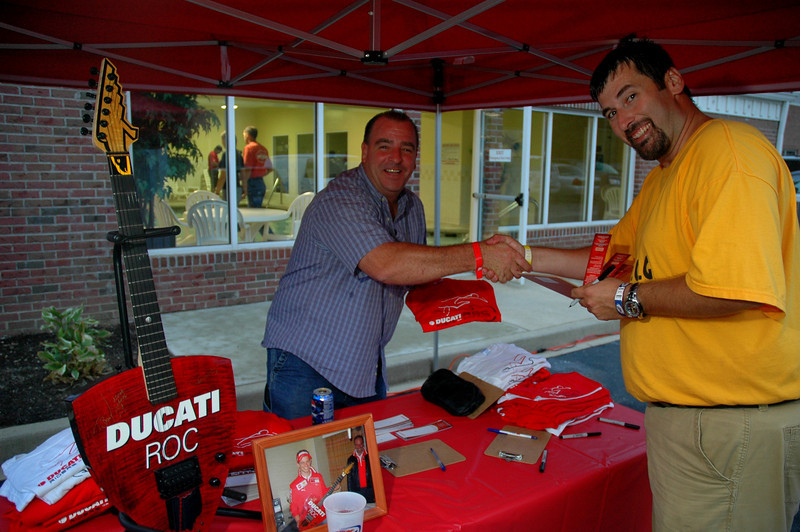 Ducati-Roc had t-shirts and guitar raffle tickets for sale at the hotel as well as the track<br /> Indianapolis Chamber of Commerce Photo