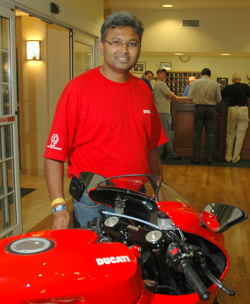That's Chan, the hotel manager.  Chan and his staff (especially Amber!) Made sure whatever we needed we got. Ducatisti literally had the full hotel for 4 days. Thanks Chan!!!<br /> <br /> Indianapolis Chamber of Commerce Photo