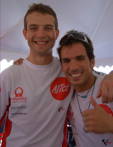 Sylvain Guintoli and Toni Elias