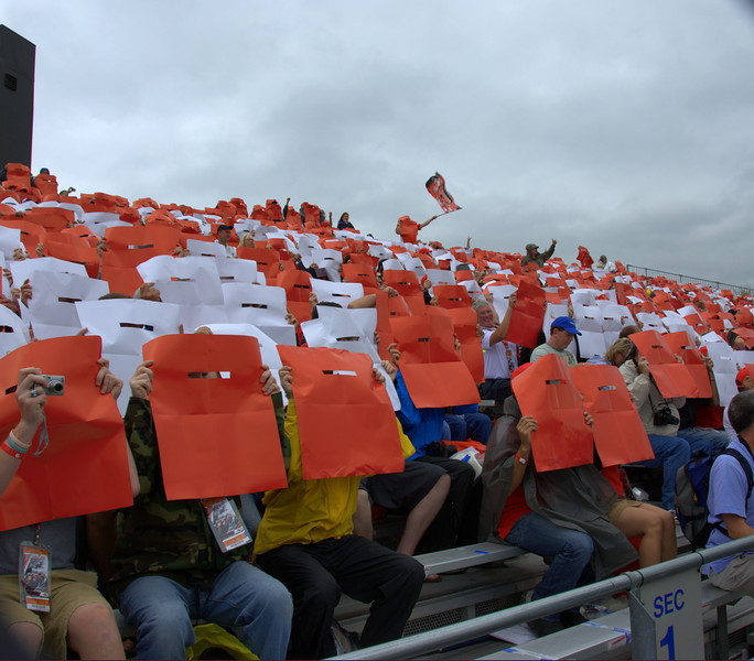 The card stunt from up close