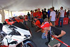 "Lots to see in the Superbike Concorso tent as well. The ""Puma"" 848 in the foreground was a crowd favorite"