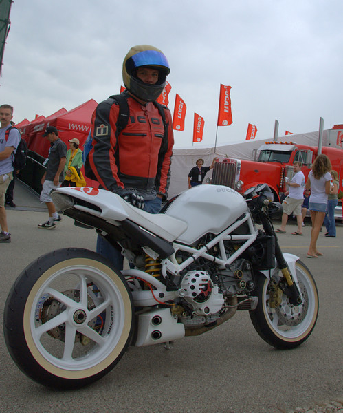 Meanwhile more beautiful Ducati's were pouring into the Island