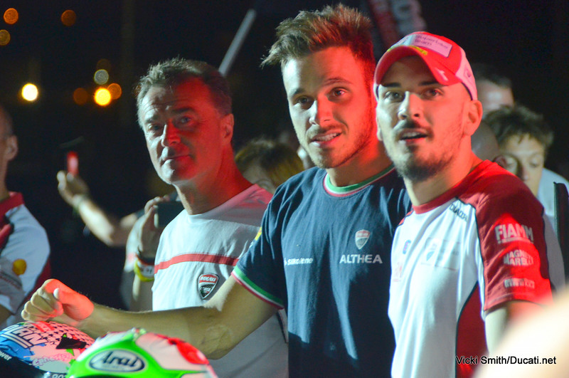 From Left, Frankie Chili, Niccolo Canepa and Davide Giugliano