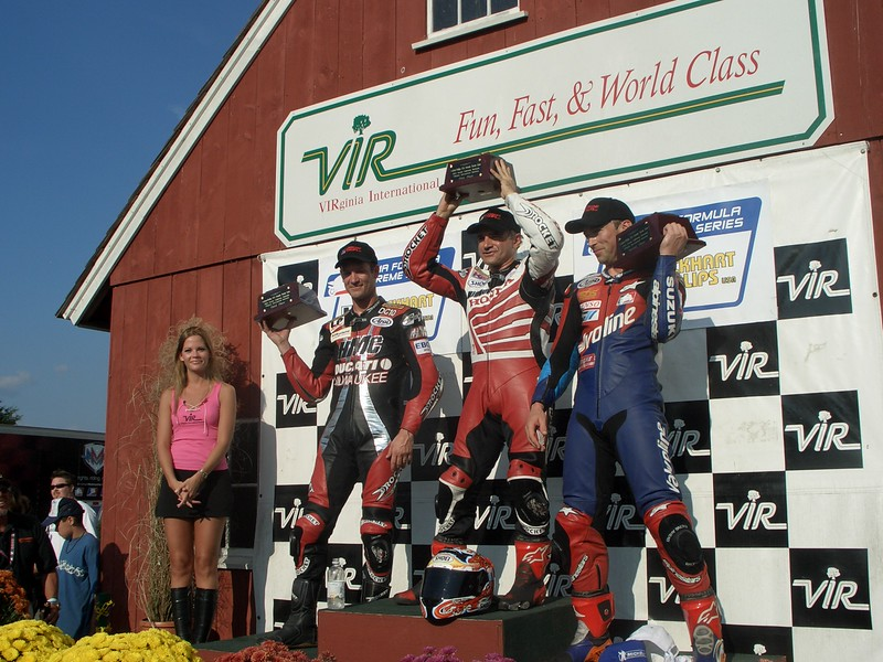 Doug Chandler was the top Ducati rider of the weekend, with his 3rd place finish in Formula Xtreme. Miguel DuHamel and Vincent Haskovec were 1st and second.